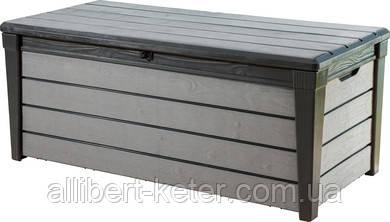 Садова скриня BRUSHWOOD STORAGE BOX 455L графіт (Keter)