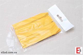 Етикетки-кілочки для рослин 18 х 120 х 0,5 мм, 50 шт - жовті, фото 3