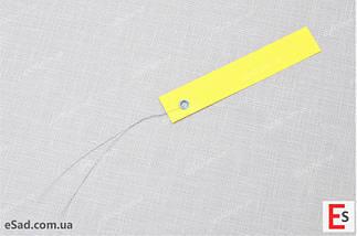 Етикетки на дроті кольорові 1,8 х 10 см, 250 шт ПВХ, фото 3