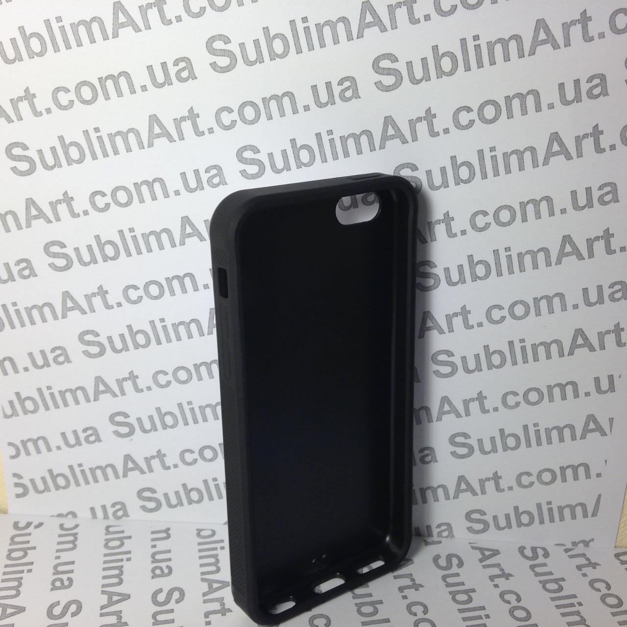 Чехол для 2D сублимации резиновый (TPU) Iphone 4/4S черный