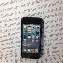 Чехол для 2D сублимации резиновый (TPU) Iphone 4/4S черный, фото 2