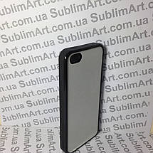 Чехол для 2D сублимации резиновый (TPU) Iphone 4/4S черный, фото 3
