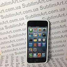 Чехол для 2D сублимации резиновый (TPU) Iphone 4/4S белый, фото 2
