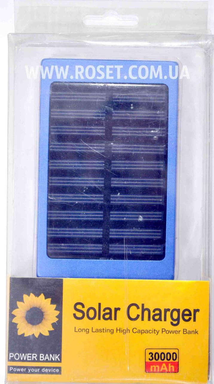 Портативное зарядное устройство на солнечной батарее Power Bank Solar Charger 30000 mAh.