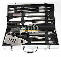 Набор инструментов для барбекю из нержавеющей стали в чемодане (10 пр./наб.) Dynasty DYN-12081