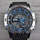 Часы Skmei Мод.1110, черный-стальной-синий, в металлическом боксе, фото 4