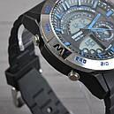 Часы Skmei Мод.1110, черный-стальной-синий, в металлическом боксе, фото 6