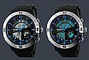Часы Skmei Мод.1110, черный-стальной-синий, в металлическом боксе, фото 8