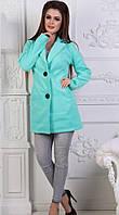 Женское кашемировое пальто на пуговицах, фото 1