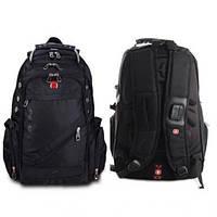 Городской рюкзак Swissgear 8810 Черный + дождевик, фото 1