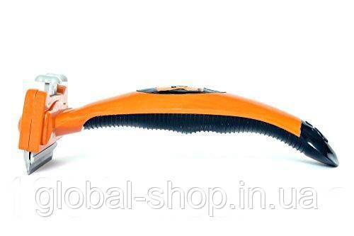 Фурминатор для грумминга собак, кошек Furminator Short Hair Medium UNHAIRING 4,5см c кнопкой