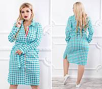 Платье - рубашка большого размера / вискоза / Украина 17-1222, фото 1
