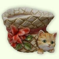 "Кашпо ""Шляпа с котенком"""