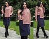 Женское двухцветное кашемировое пальто  (рр.42-44, 44-46,48-50, 52-54, 56-58)