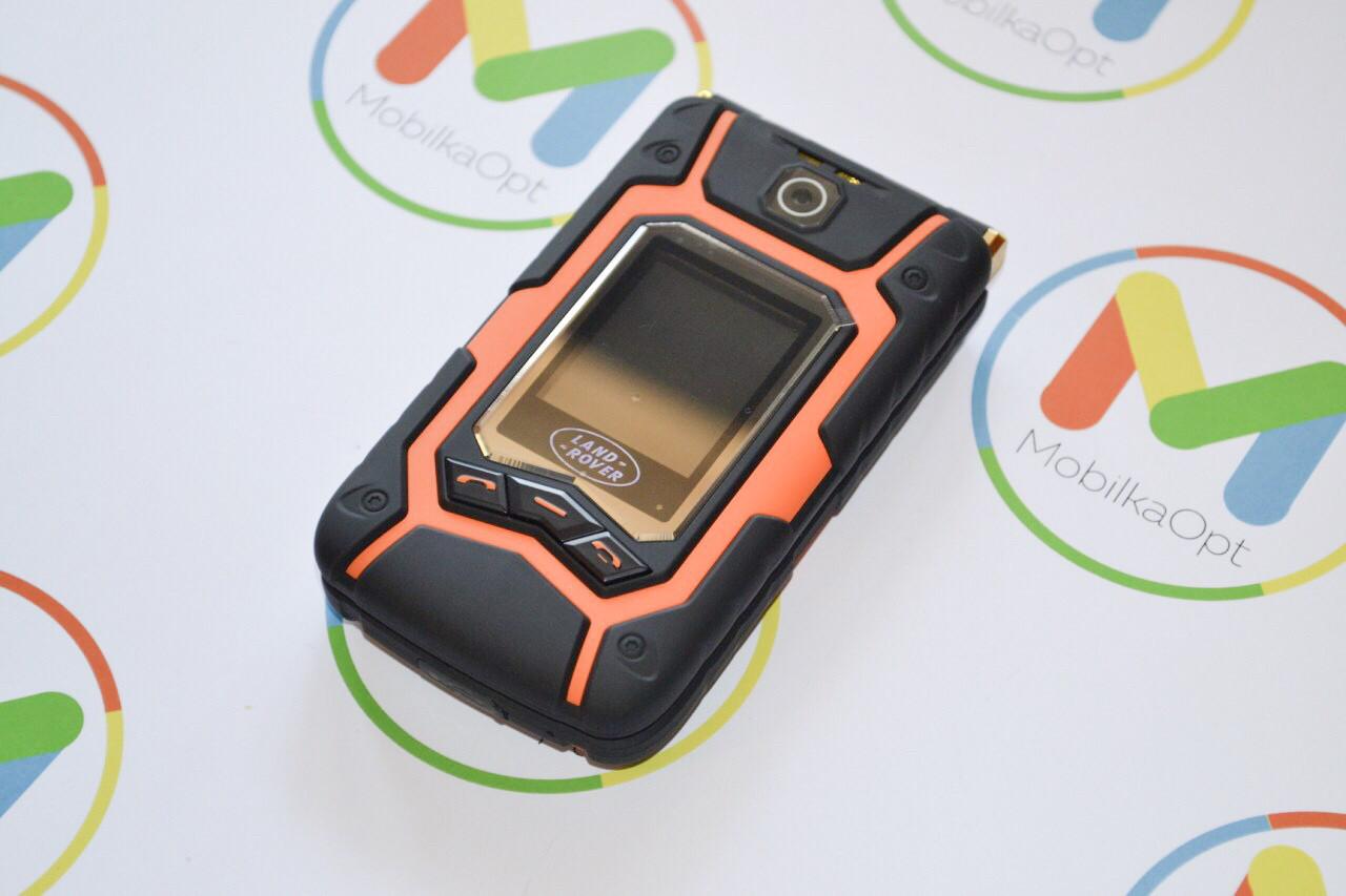 Защищенный противоударный водонепроницаемый телефон раскладушка Flip Lend Rover X9 Pro (2 экрана + сенсор)