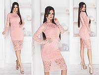 Женское гипюровое платье  (рр.42-44,44-46,48-50,52-54,56-58), фото 1