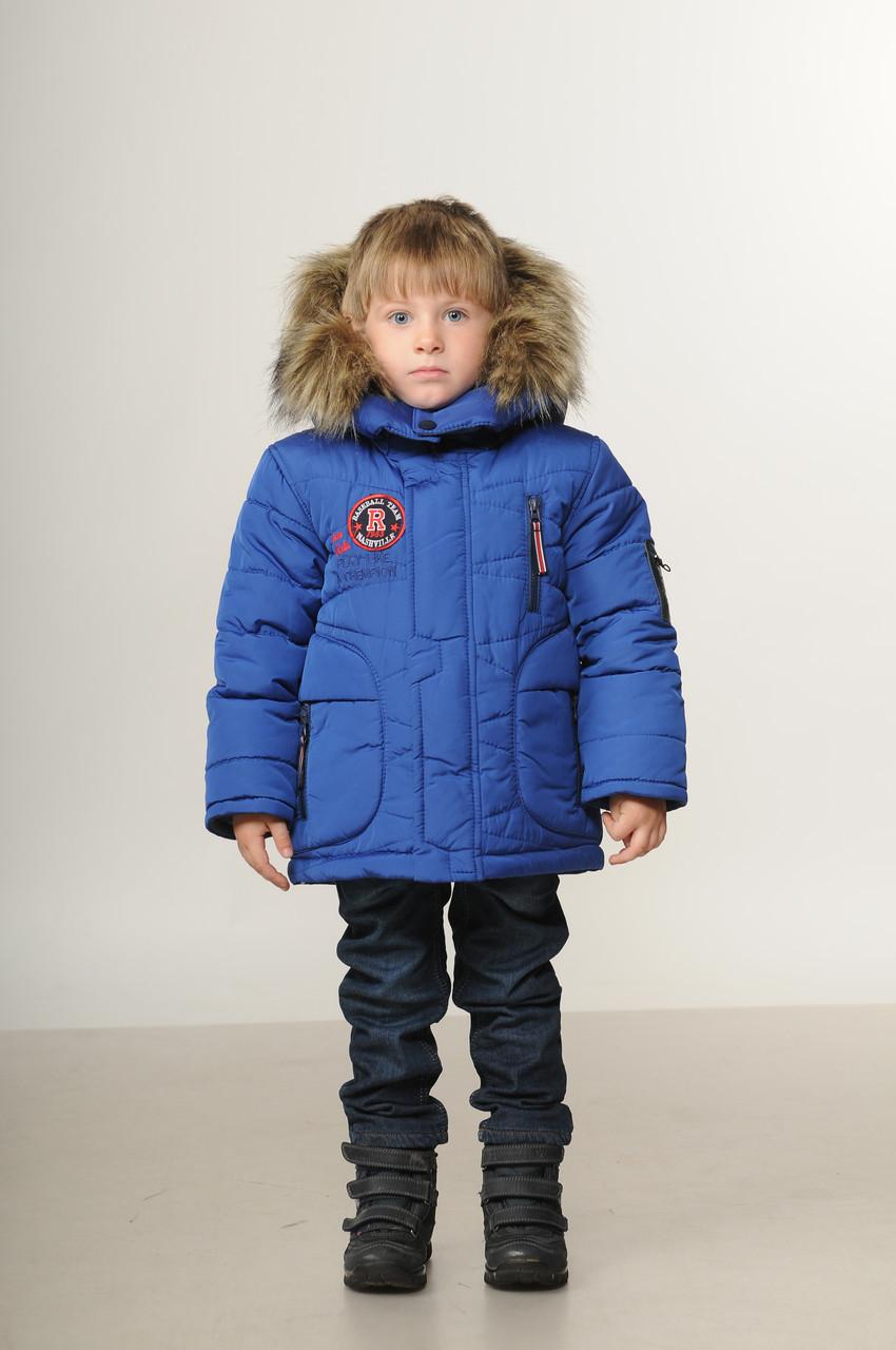 Детская зимняя куртка парка для мальчиков  2 6 лет