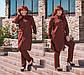 """Стильный женский брючный костюм в больших размерах """"Дубаи Рубашка Туника"""" в расцветках, фото 6"""