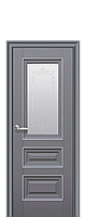 Двери межкомнатные Новый Стиль Статус (Стекло сатин  с молдингом и рисунком) ПП Premium