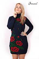 Вязаное платье Маки большого размера