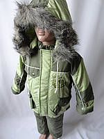 Детский теплый комбинезон с капюшоном.
