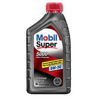 Оригинальное полусинтетическое моторное масло Mobil Super 5000 5W-30