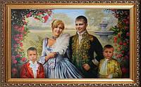 Художественный портрет  по фотографии маслом на холсте