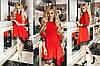 Женское платье ассиметричного кроя с кружевом