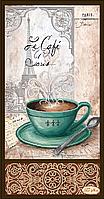 Схема для вышивки бисером Кофе в Париже - 2 ТА-159