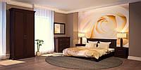 """Кровать из массива дуба """"Розалинда"""" в цвете"""