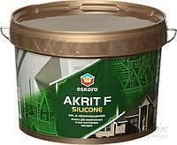 Eskaro Akrit F Silicоne Белая 9 л краска для минеральных и оштукатуренных фасадов Фасадная акриловая краска