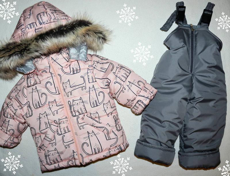 Зимний комбинезон +куртка на девочку 1-2,2-3,3-4,4-5 лет, фото 1