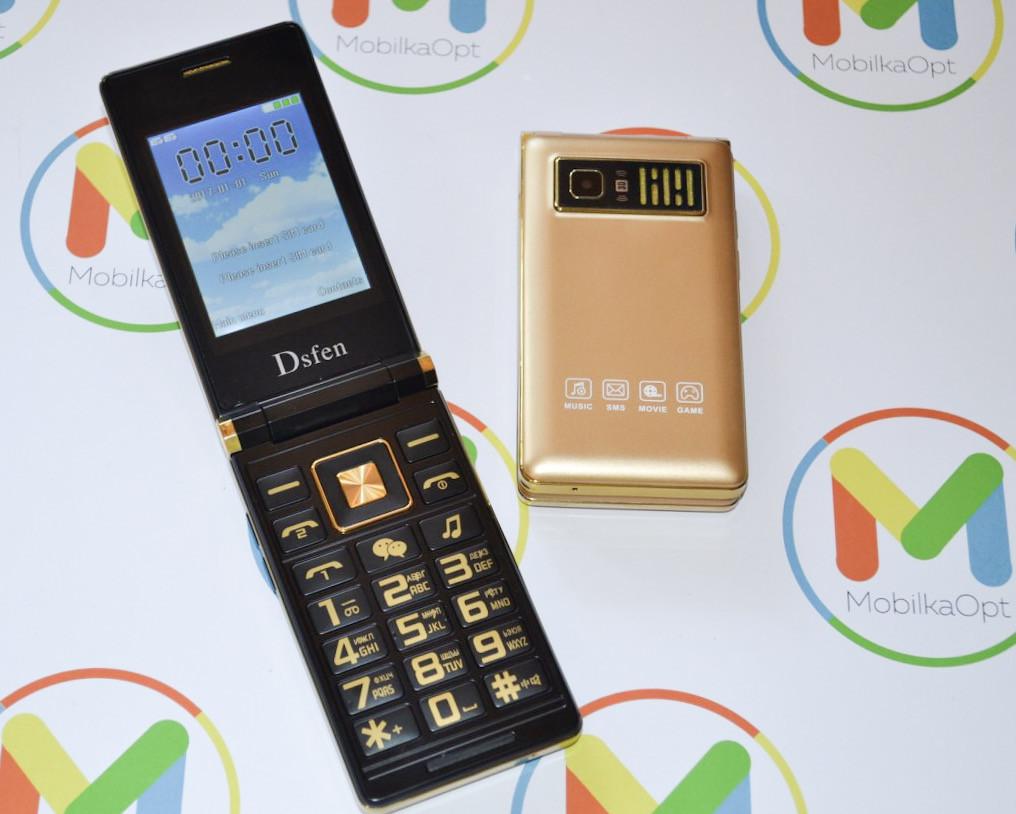 Стильный мобильный телефон раскладушка с Samsung V1 Dsfen 2sim, 2 дисплея, сенсорный экран, MP3/MP4, 6800 mAh!
