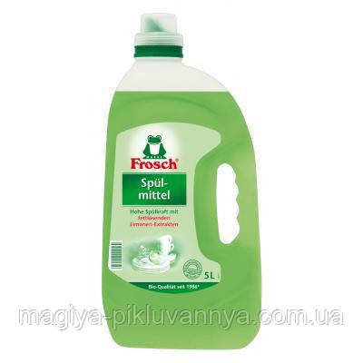 Копия Средство для мытья посуды Frosch Зеленый лимон 5 л , арт 115585