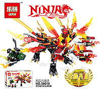 Конструктор Lepin Трёхголовый Огненный Дракон Кая (Серия Ninjsaga) 350 дет