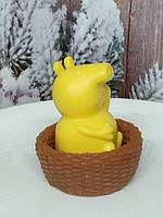 Подарочное мыло желтая свинья Пеппа в корзинке. Общий вес 190 г. Сюрприз родным в новый год