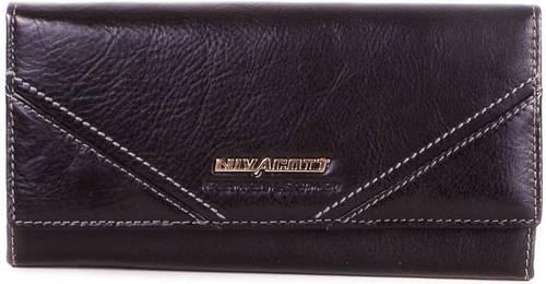 Повседневный женский кожаный кошелек NIVACOTT (НИВАКОТТ) MISS17490-black