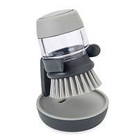 Щетка для мытья посуды с дозатором JOSEPH JOSEPH Palm Crub Серая (85005)