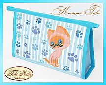 Набор для вышивки косметички бисером Котенок Гав К-002
