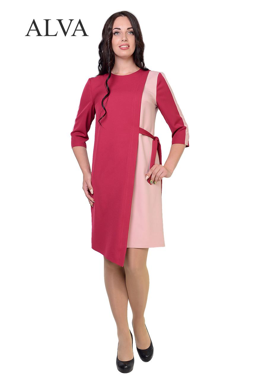 Нарядное платье с ассиметричным низом свободного покроя