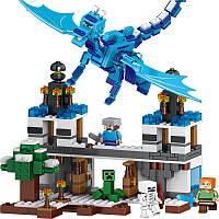 Конструктор Lepin Minecraft Нападение синего дракона (Серия Cubeworld) 548 дет