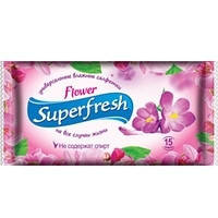 Серветки вологі Super Fresh квіткові №15
