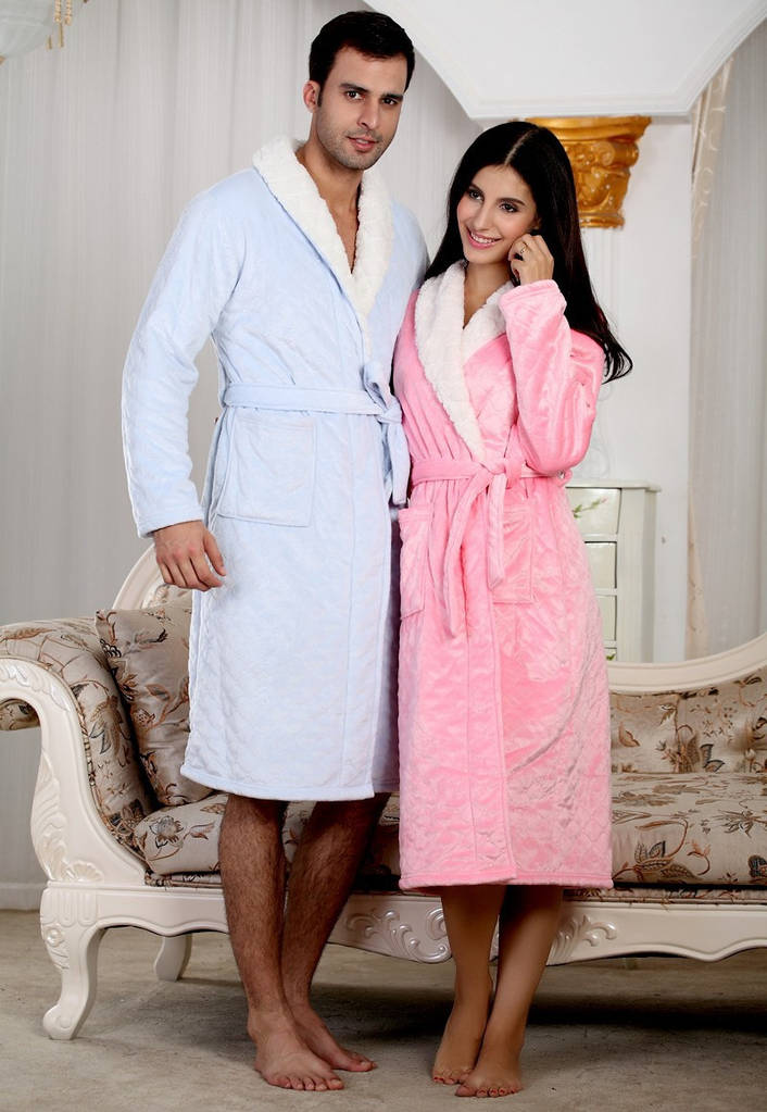 Кашемировые халаты для двоих. 3 цвета. Цена за пару
