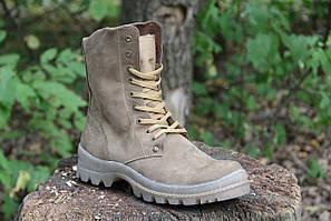 Тактичесие ботинки берцы Зимние из натуральной кожи и меха