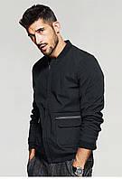 Мужская демисезонная куртка с накладными карманами