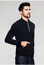 Мужская классическая куртка бомбер черного цвета, фото 2