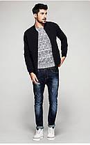 Мужская классическая куртка бомбер черного цвета, фото 3