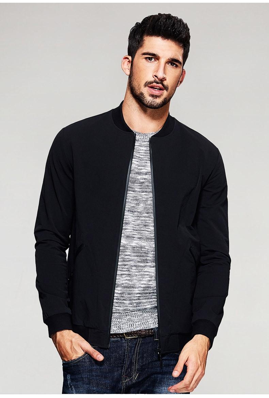 Мужская классическая куртка бомбер черного цвета