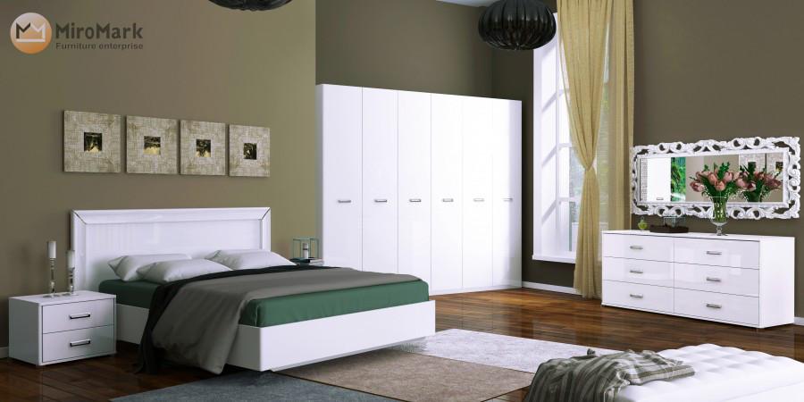 "Спальня ""Белла"" 6Д білий Глянець MiroMark"