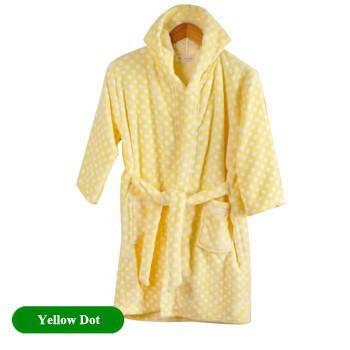 Детский халат из фланели. Желтый